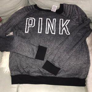 Black and white pink sweatshirt